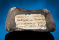 Meteorites:Stones, L'AIGLE - AMONG THE MOST IMPORTANT METEORITES IN HISTORY... BUT NOT TO THOMAS JEFFERSON. ...