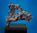 Meteorites:Irons, RARE ZOOMORPHIC METEORITE FROM THE MACOVICH COLLECTION - WITH A NATURALLY FORMED HOLE, THE TERRIER FROM OUTER SPACE. ...