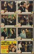 "Movie Posters:War, Reunion in France (MGM, 1942). Lobby Card Set of 8 (11"" X 14"").War.. ... (Total: 8 Items)"