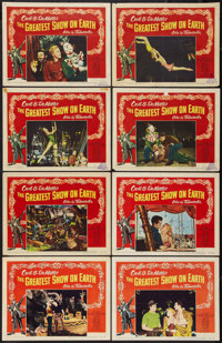 """The Greatest Show On Earth (Paramount, 1952). Lobby Card Set of 8 (11"""" X 14""""). Drama. ... (Total: 8 Items)"""