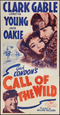 "Movie Posters:Adventure, The Call of the Wild (20th Century Fox, R-1953). Three Sheet (41"" X81""). Adventure.. ..."