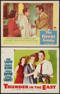 "Movie Posters:Adventure, Thunder in the East Lot (Paramount, 1953). Lobby Cards (2) (11"" X14""). Adventure.. ... (Total: 2 Items)"