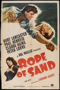 """Rope of Sand (Paramount, 1949). One Sheet (27"""" X 41""""). Adventure"""
