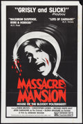 """Movie Posters:Horror, Mansion of the Doomed Lot (William Mishkin, 1976). One Sheets (3) (27"""" X 41""""). Horror. Alternate Title: Massacre Mansion... (Total: 3 Items)"""