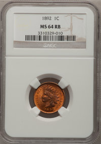 1892 1C MS64 Red and Brown NGC. NGC Census: (316/120). PCGS Population (145/21). Mintage: 37,649,832. Numismedia Wsl. Pr...