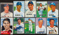 Autographs:Post Cards, Baseball Greats Signed Early 1950's Bowman And Topps Reproduction Cards Lot Of 20. ...
