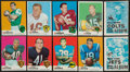 Football Cards:Sets, 1969 Topps Football Complete Set (263) Plus 4-In-1 Team Albums Complete Set (26). ...