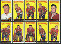 Hockey Cards:Lots, 1964-65 Topps Hockey Black Hawks Collection (10). ...