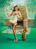 Pin-up and Glamour Art, VAUGHAN ALDEN BASS (American, 20th Century). One MorePlease. Oil on canvas laid on board. 27.75 x 20.75 in.. Signedlow...