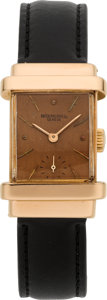 "Timepieces:Wristwatch, Patek Philippe & Co. Rose Gold ""Top Hat"", circa 1946. ..."