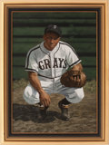 Baseball Collectibles:Others, Circa 2000 Josh Gibson Original Artwork by Arthur Miller....