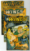 "Golden Age (1938-1955):War, Wings Comics #82-84 Group - Davis Crippen (""D"" Copy) pedigree(Fiction House, 1947).... (Total: 3)"