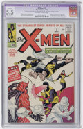 Silver Age (1956-1969):Superhero, X-Men #1 (Marvel, 1963) CGC Apparent FN- 5.5 Extensive (P) Off-white to white pages....
