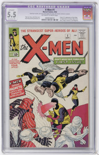 X-Men #1 (Marvel, 1963) CGC Apparent FN- 5.5 Extensive (P) Off-white to white pages
