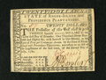 Colonial Notes:Rhode Island, Rhode Island July 2, 1780 $20 Fully Signed with Low Number 57 GemNew....
