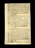 Colonial Notes:North Carolina, North Carolina December, 1771 2s6d, L1, 10s Uncut Sheet Gem New.These sheets were once rather common, but so many have been...