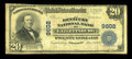 National Bank Notes:Kentucky, Catlettsburg, KY - $20 1902 Plain Back Fr. 653 The Kentucky NB Ch.# 9602. ...