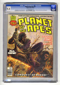 Magazines:Science-Fiction, Planet of the Apes #27 (Marvel, 1976) CGC NM 9.4 Off-white to whitepages. Herb Trimpe art. Experienced low distribution acc...