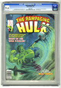 Magazines:Superhero, The Rampaging Hulk #7 (Marvel, 1978) CGC NM+ 9.6 White pages.Man-Thing story. Jim Starlin and Ernie Chan frontispiece. Star...