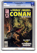 "Magazines:Miscellaneous, Savage Sword of Conan #20 (Marvel, 1977) CGC NM/MT 9.8 Off-white towhite pages. Conan story adapted from ""The Slithering Sh..."
