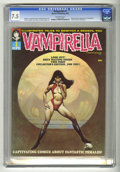 Magazines:Horror, Vampirella #1 (Warren, 1969) CGC VF- 7.5 Off-white pages. Origin and first appearance of Vampirella. Forrest J. Ackerman sto...