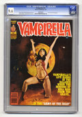 Magazines:Horror, Vampirella #97 (Warren, 1981) CGC NM+ 9.6 White pages. Jose Gonzalez frontispiece. Gonzalo Mayo, Aureleon, and Jose Ortiz ar...