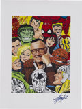 Memorabilia:Miscellaneous, Stan Lee With Marvel Heroes Portrait Poster (undated)....