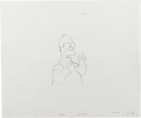 """""""The Simpsons"""" - Bart and Homer Simpson Animation Drawing Original Art, Group of 5 (Fox, 2001).... (Total: 5)"""