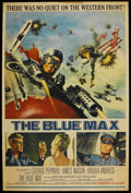 "Movie Posters:War, The Blue Max (20th Century Fox, 1966). Poster (40"" X 60""). War. ..."