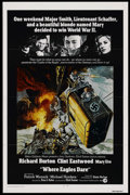 "Movie Posters:War, Where Eagles Dare (MGM, R-1973). One Sheet (27"" X 41""). War. ..."
