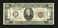 Small Size:World War II Emergency Notes, Fr. 2304 $20 1934 Hawaii Mule Federal Reserve Note. Very Fine.. ...