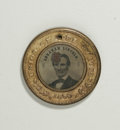 U.S. Presidents & Statesmen: , Lincoln/Hannibal Hamlin 1860 Ferrotype and Lincoln Rail SplitterCampaign Medal. This lot consists of an 1860 ferrotype in l...(Total: 2 Coins)