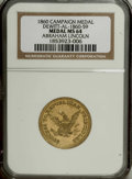 U.S. Presidents & Statesmen: , 1860 Abraham Lincoln, Campaign Medal, Dewitt-AL-1859-60, MS64 NGC.This high quality political token (medal) takes a quote f...