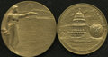 U.S. Presidents & Statesmen: , Presidents Teddy Roosevelt and Ronald Reagan Bronze Medals.Consists of a 76-mm U.S. Mint restrike of the 1905 Theodore Roos...(Total: 2 medals)