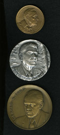 U.S. Presidents & Statesmen: , U.S. Presidential Medal Group Lot. A lot of three medals startingwith Franklin Delano Roosevelt's 1945 inaugural medal, str...(Total: 3 medals)