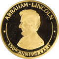 U.S. Presidents & Statesmen: , 1809-1959 Abraham Lincoln Birthplace, Hodgenville, Kentucky, GoldMedal. This is a .900 fine (edge-stamped) gold medal depic...