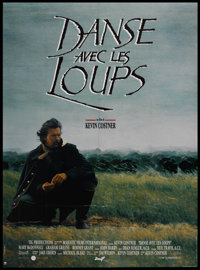 """Dances With Wolves (Orion, 1990). French Grande (47"""" X 63""""). Academy Award Winner"""