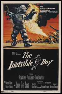 """The Invisible Boy (MGM, 1957). One Sheet (27"""" X 41""""). Science Fiction"""