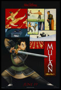 "Movie Posters:Animated, Mulan (Buena Vista, 1998). One Sheet and Advance One Sheet (27"" X40""). DS (both). Animated. ... (Total: 2 Items)"