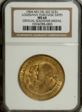 So-Called Dollars: , 1904 Official Souvenir Medal, Louisiana Purchase Exposition MS64 NGC. HK-302. A nice example of this popular U.S. Mint medal...