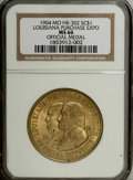 So-Called Dollars: , 1904 Louisiana Purchase Exposition MS66 NGC. HK-302. Yellow bronze. This brassy example is lustrous and unabraded, and remai...