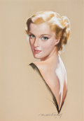 Pin-up and Glamour Art, BRADSHAW CRANDELL (American, 1896-1966). Portrait of a Lady.Pastel on board. 32 x 24 in.. Signed lower right. From ...