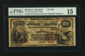 National Bank Notes:Maryland, Baltimore, MD - $10 1882 Brown Back Fr. 490 The National MarineBank Ch. # (E)2453. ...