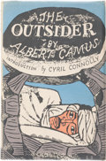 Books:Literature 1900-up, Albert Camus. The Outsider. London: Hamish Hamilton, [1946].. First English edition, usually published as The St...
