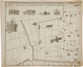 Antiques:Posters & Prints, George Vertue. Map of London, In Two Parts.... (Total: 2 Items)
