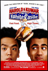 """Harold and Kumar Go to White Castle (New Line, 2004). One Sheet (27"""" X 40"""") DS Advance. Comedy"""