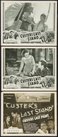 "Movie Posters:Adventure, Custer's Last Stand (Stage and Screen Productions, 1936). TitleLobby Card and Lobby Cards (2) (11"" X 14""). Chapter 5 and Ch...(Total: 3 Items)"
