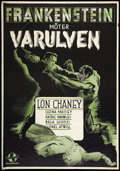 """Movie Posters:Horror, Frankenstein Meets the Wolf Man (Universal, 1944). Swedish One Sheet (27.5"""" X 39.5""""). Horror.. ..."""