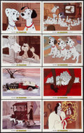 "Movie Posters:Animated, 101 Dalmatians (Buena Vista, R-1979). Lobby Card Set of 8 (11"" X 14""), and Brazilian Poster (29"" X 40.5""). Animated.. ... (Total: 9 Items)"