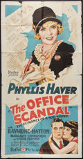 "Movie Posters:Drama, The Office Scandal (Pathé, 1929). Three Sheet (41"" X 81""). Drama....."